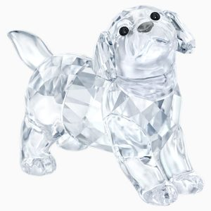 Crystal dog figurine